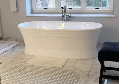 Bathroom Remodel With Free Standing Bath and New Tile Floor (Cincinnati, Ohio)