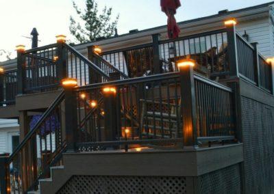 Composite Deck Build with Custom Lighting (Cincinnati, Ohio)
