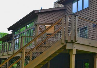 Deck Restoration And Feeney Cable Handrail Retrofit (Cincinnati, Ohio)