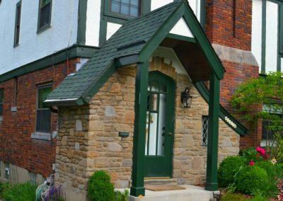 Tudor Style Home – Front Door Overhang Addition (Cincinnati, Ohio)